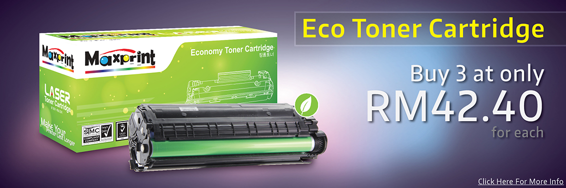 3 Eco Toner Cartridge Promotion